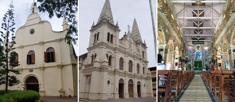 南インドのフォート・コーチにある教会やシナゴーグ