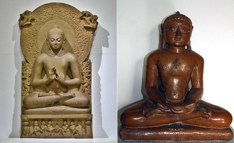 ブッダとマハーヴイーラの像