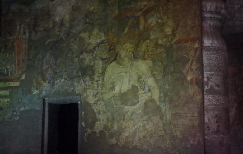 アジャンター石窟第1窟にに描かれる蓮華手菩薩