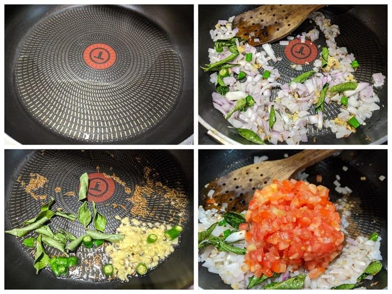 ユウガオのカレーの作り方(②野菜を炒める)