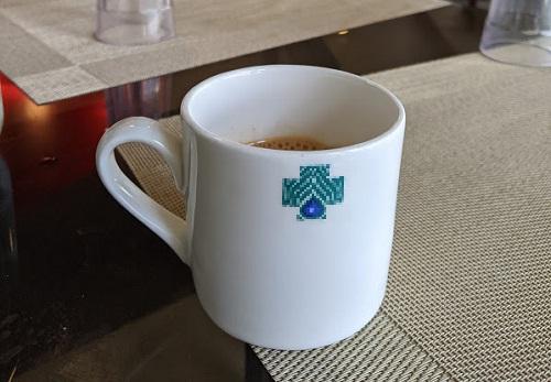 健康診断の朝食の紅茶