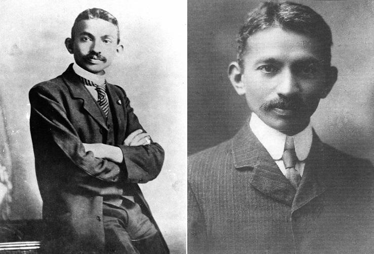 南アフリカでの弁護士時代のガンディー(1906&1909年)