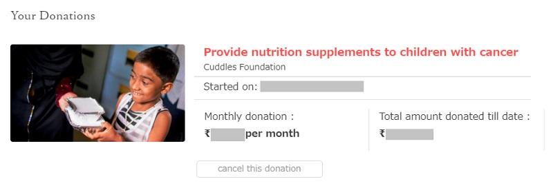 ムンバイで癌と戦う子供たちに栄養のある食べ物を提供しよう