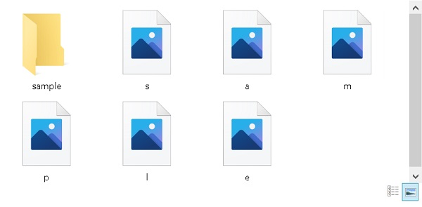 「アイコンの代わりに縮小版を表示する」が無効