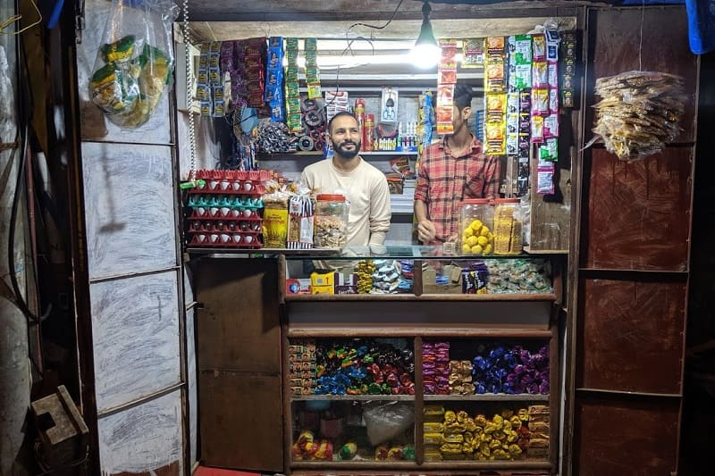 インドの路上店