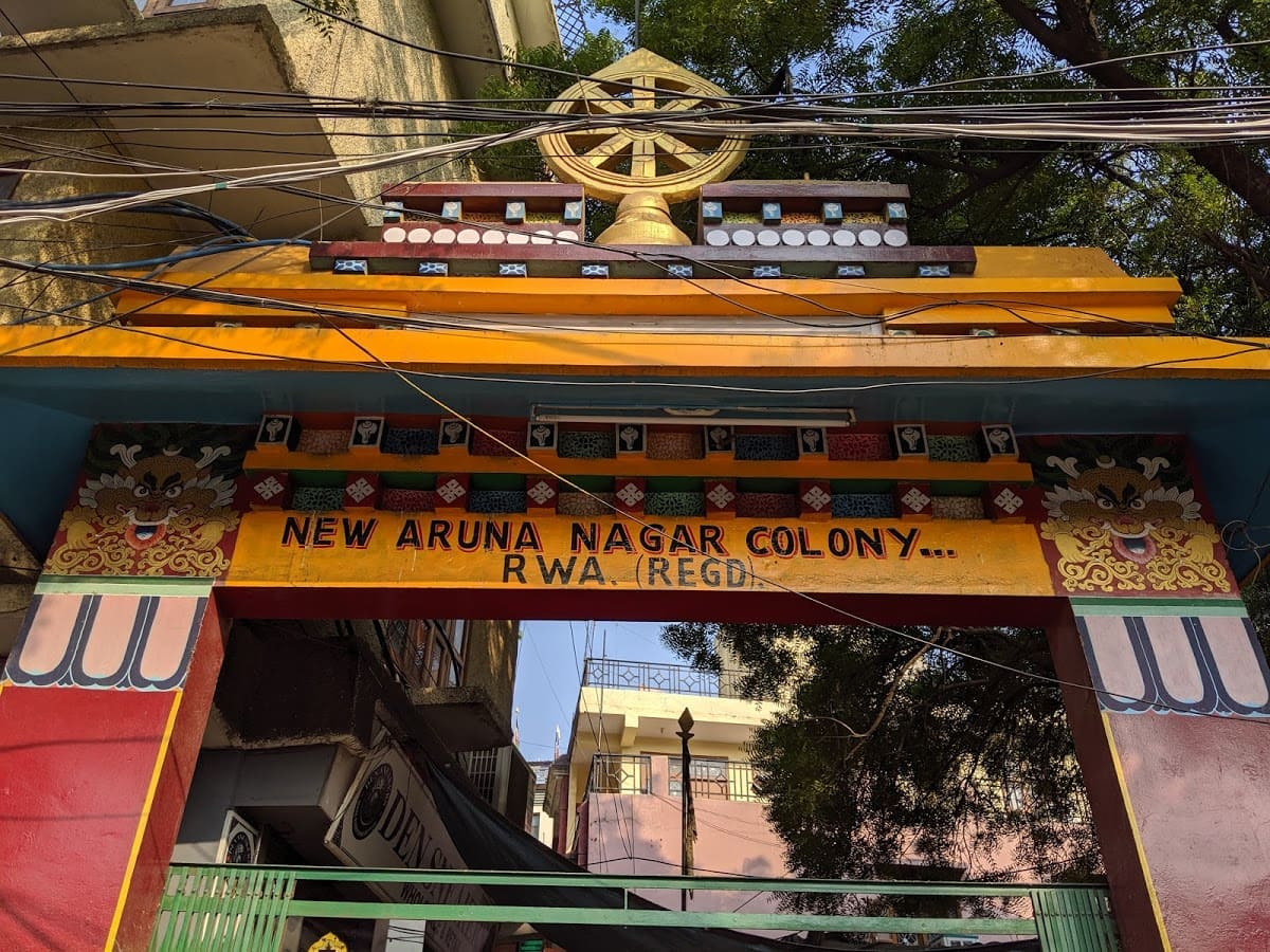 チベット街の入り口の門