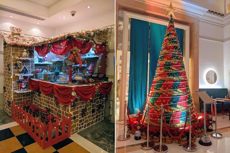 インド系5つ星ホテルのクリスマスデコレーション
