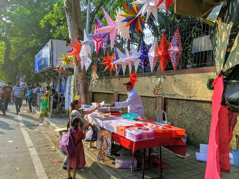ムンバイのクリスマスマーケット①