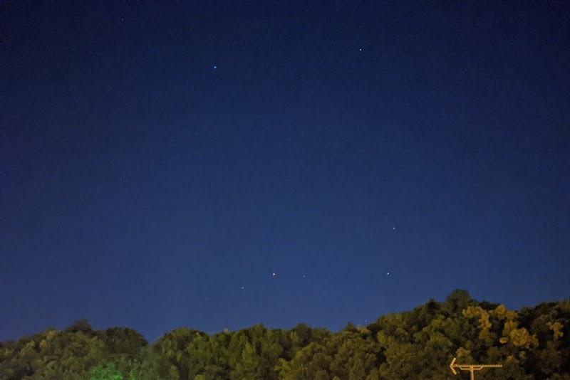 スマホで撮影した星空(1回目)