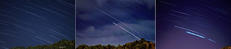星の軌跡の撮影の比較:title