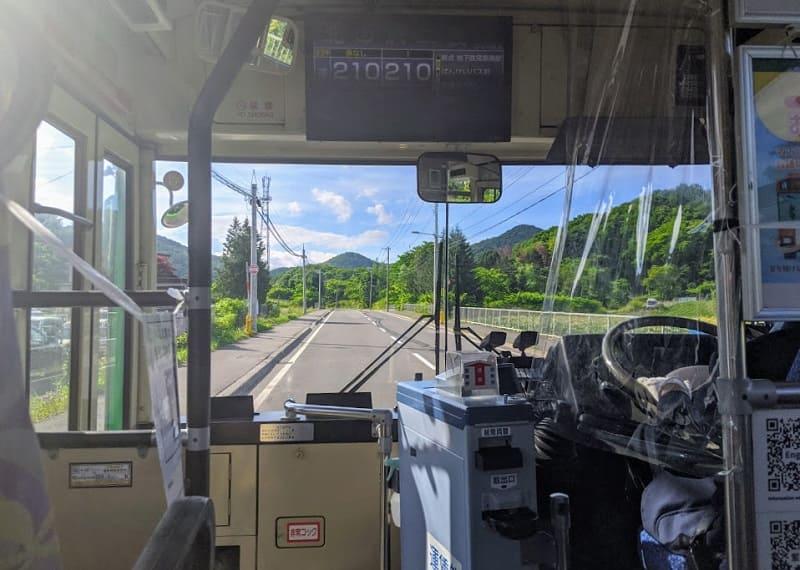 ばんけいバス(バス車内)