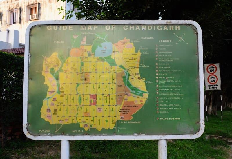 チャンディガールの地図