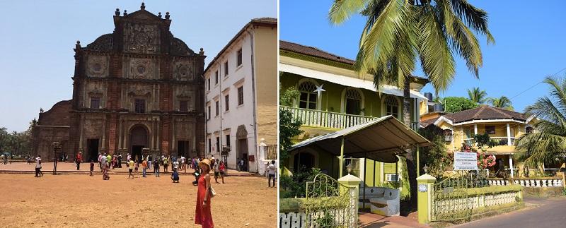 ゴアに残るポルトガル植民地時代の建築