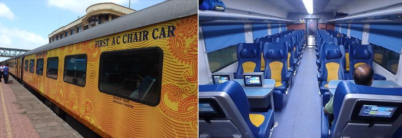 Tejas Expressのエグゼクティブクラス車両