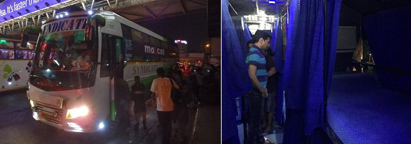 ムンバイ-ゴア間の夜行バス