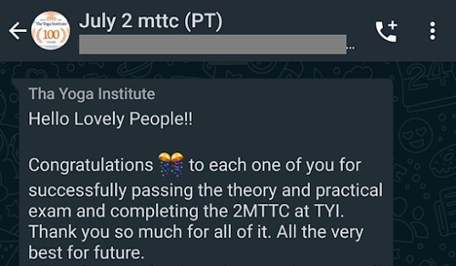 TTC200最終試験の合否連絡