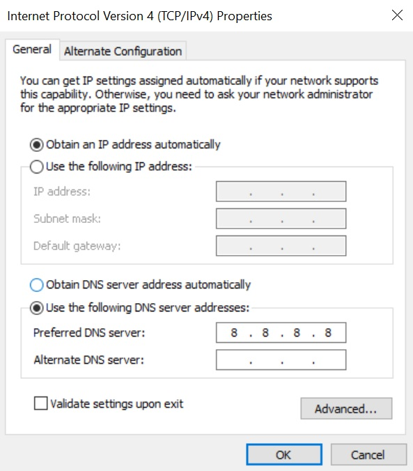 DNS設定変更方法⑤