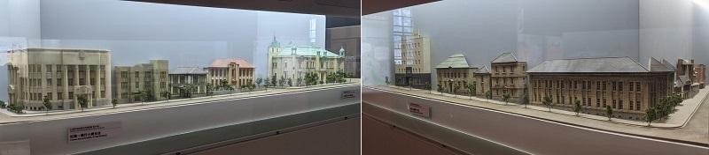 日本銀行旧小樽支店に展示されている北のウォール街のジオラマ