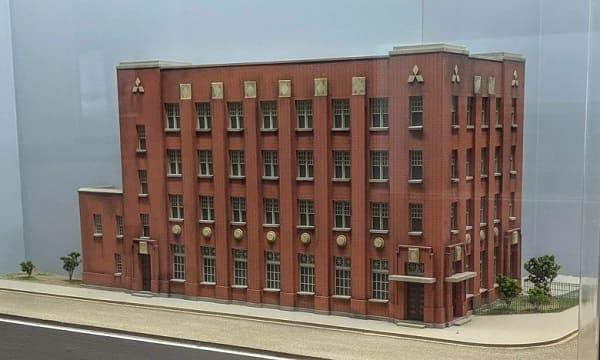 日本銀行旧小樽支店にて展示されているジオラマ(三菱銀行小樽支店)