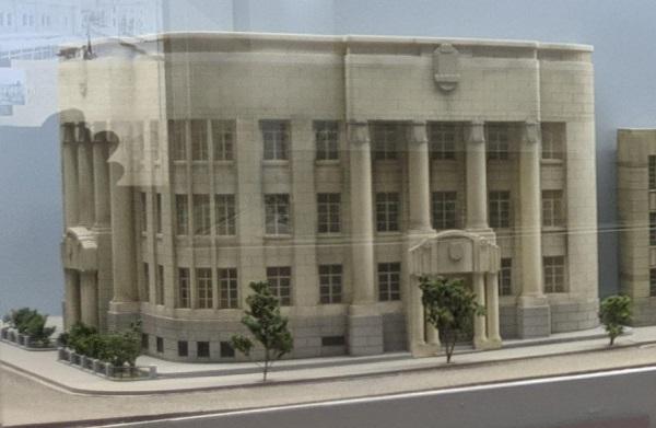 日本銀行旧小樽支店に展示されている北のウォール街のジオラマ(旧第一銀行小樽支店)