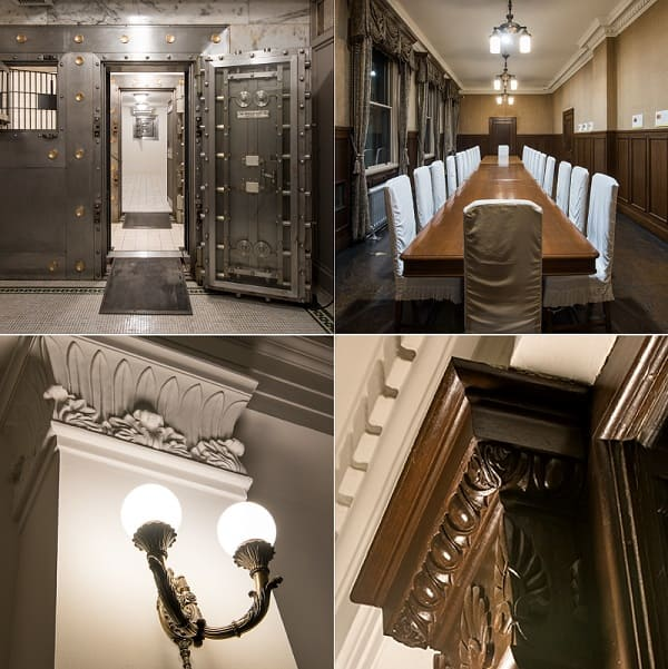 旧三井銀行小樽支店の内部の様子