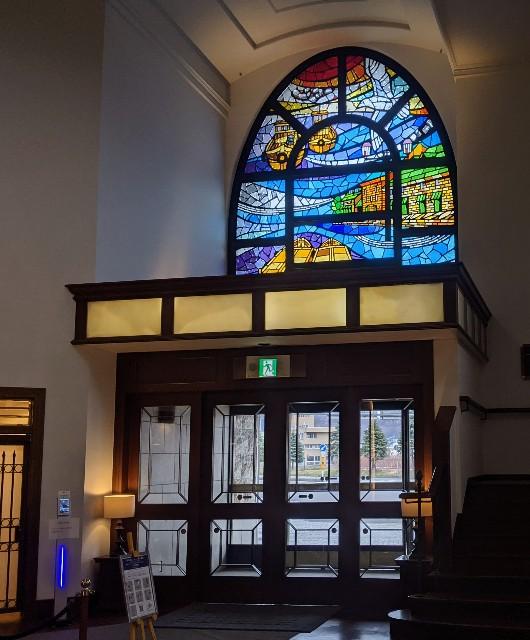 ホテルノルド小樽のロビーにあるステンドグラス