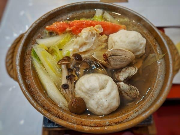 網走ロイヤルホテルの夕食(モヨロ鍋)