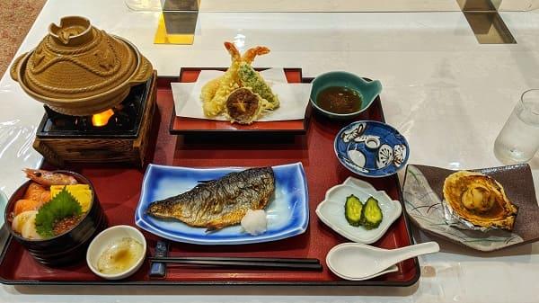 網走ロイヤルホテルの夕食