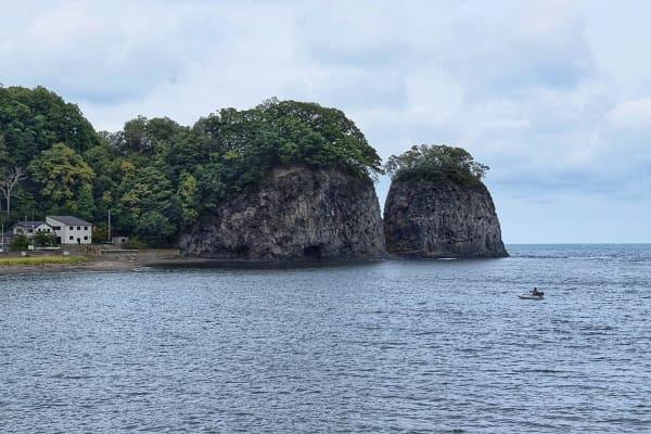 能取岬までの道② 二ツ岩