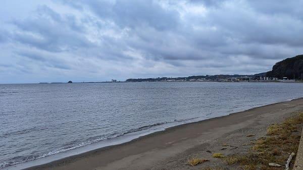 能取岬までの道① オホーツク海