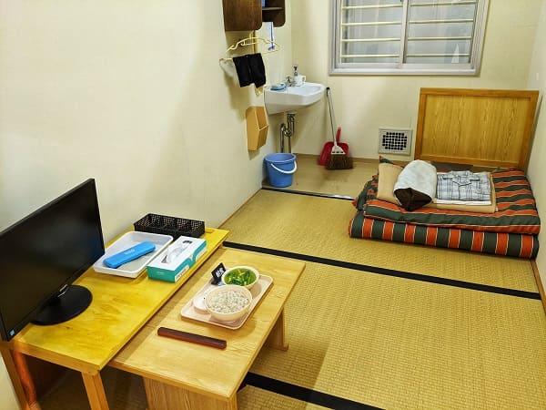 網走刑務所の受刑者の生活を展示
