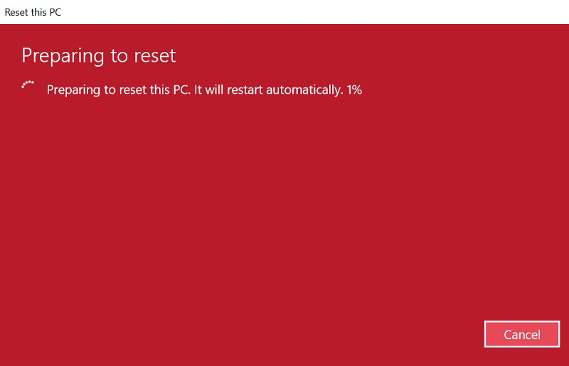 パソコン初期化の手順8
