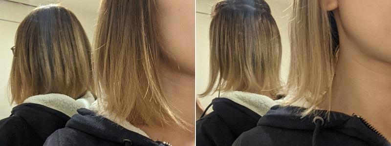 カラーバター塗布前の髪色