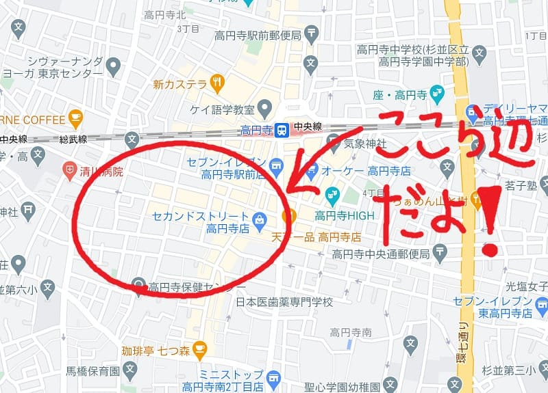 Surfaceで直接書き込み(Google Map)