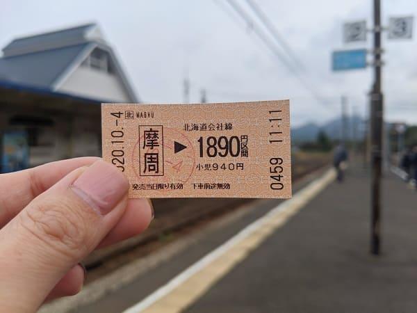 汽車のチケット