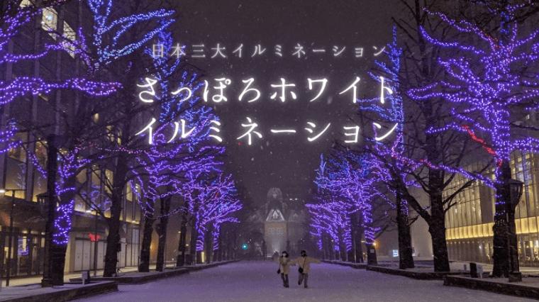 タイトル画像(【冬の札幌】さっぽろホワイトイルミネーション(日本三大イルミネーション))
