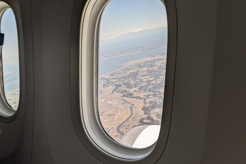 成田空港を離陸