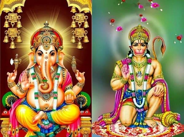 ガネーシャ神とハヌマーン神
