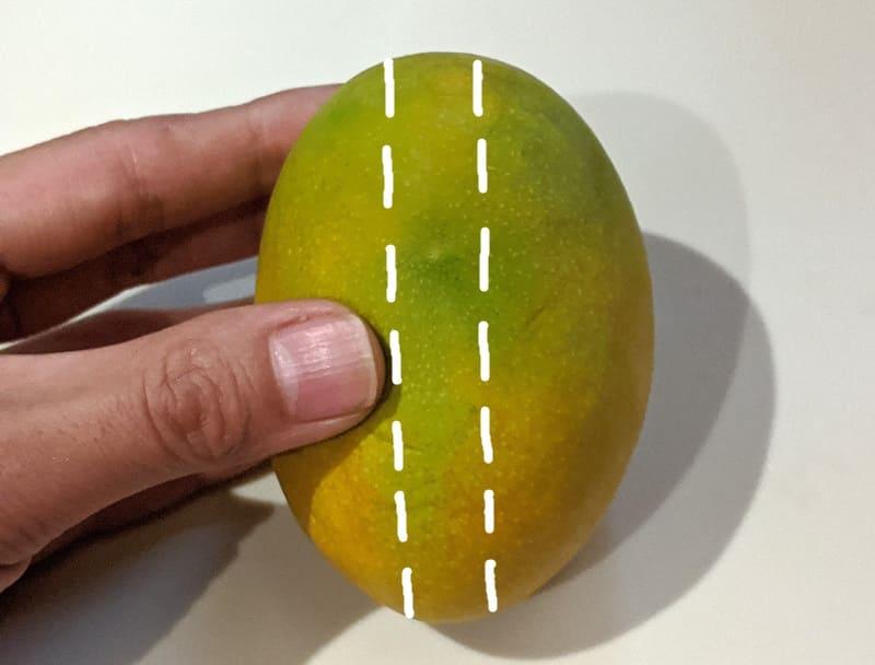 マンゴーの切り方①