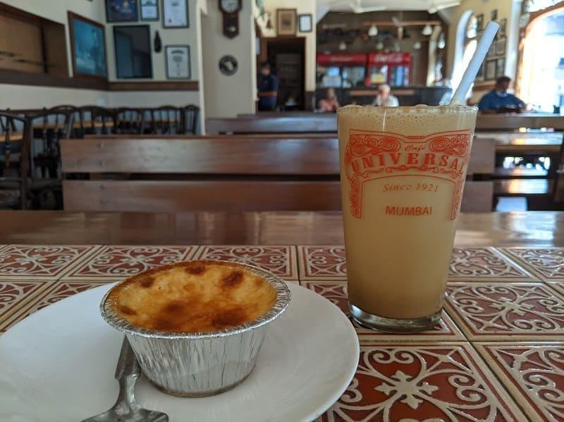 クリームキャラメルとコールドコーヒー