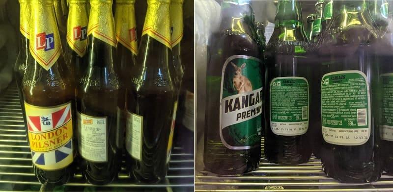 ロンドンピルスナーとカンガルービール
