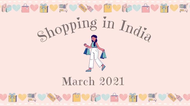 【インド生活】2021年3月お買い物記録♪ ブロックプリントやチカン刺繍のクルタ、指輪、美白クリーム、お酒の空き瓶を再利用した照明など