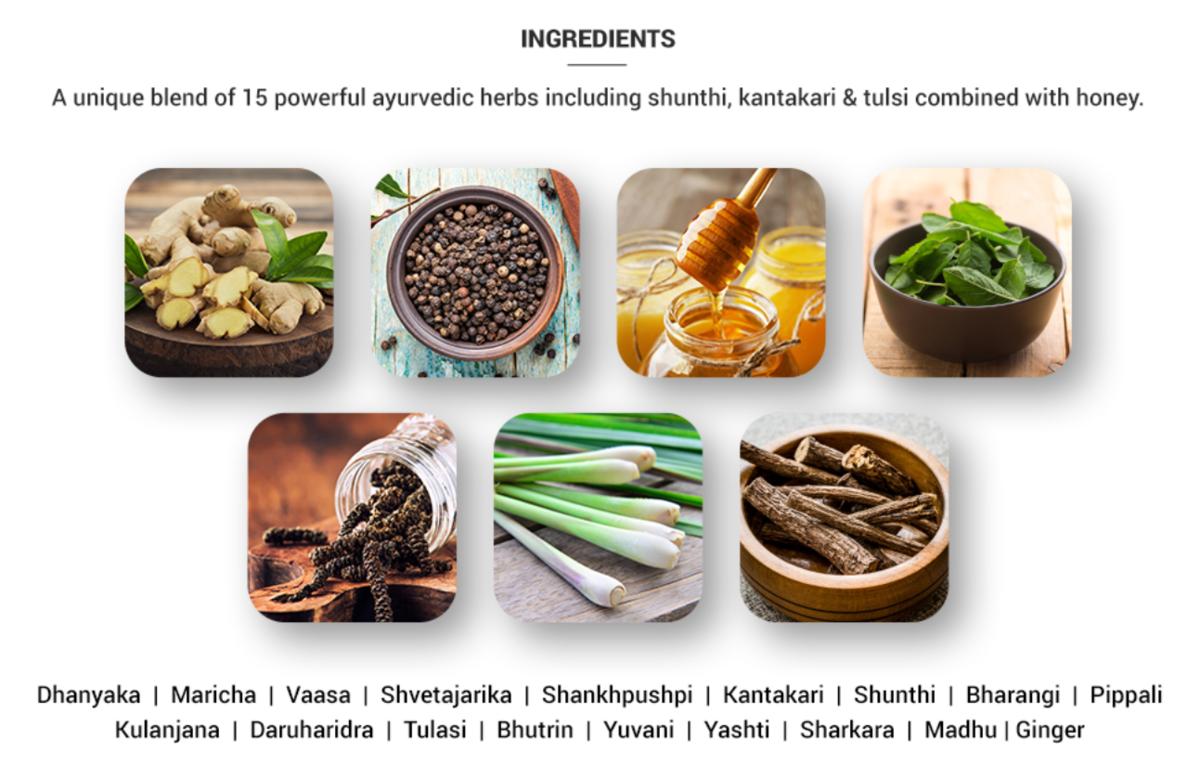 カーダのインスタント粉末に含まれる15種類のハーブ