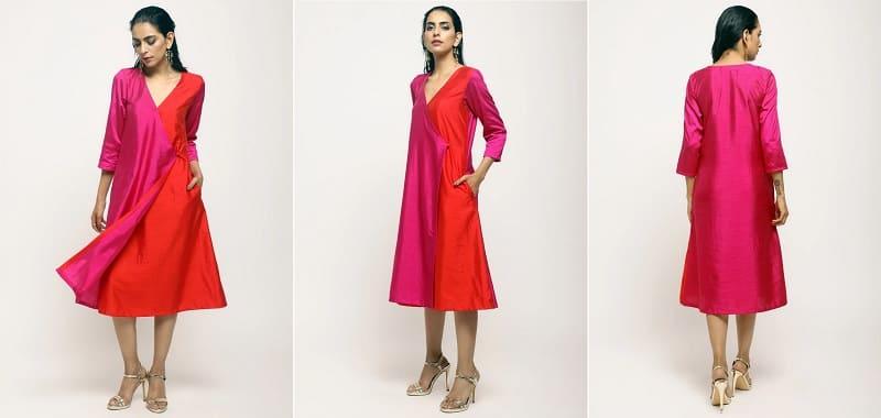 TrueBrownのドレス(モデル着用)
