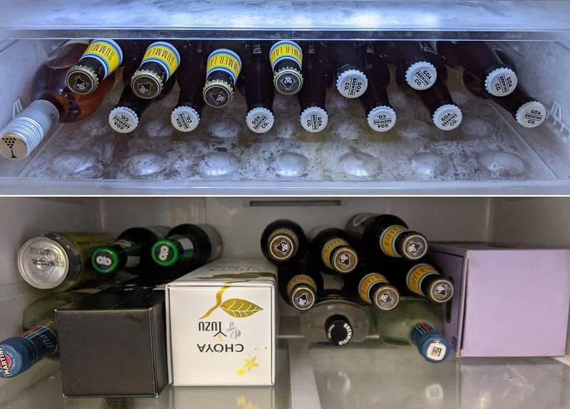 ビールで埋め尽くされる冷蔵庫