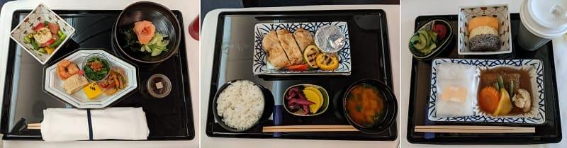 NH830ビジネスクラスの機内食