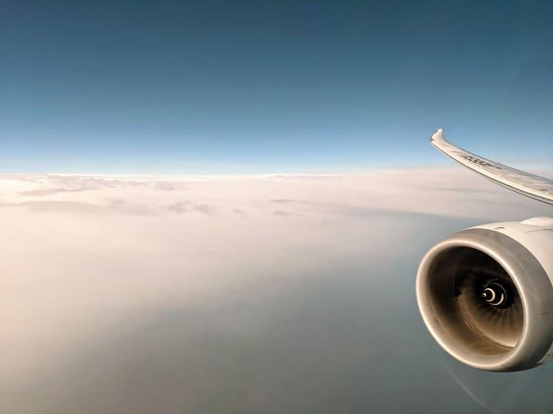 NH830日本上空の写真
