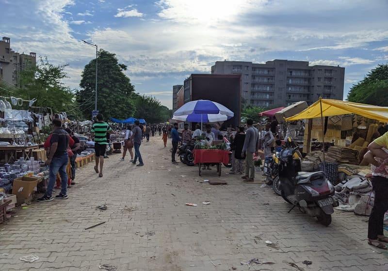 Banjara Marketの通り