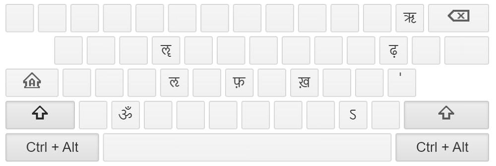 ヒンディー語トラディショナルキーボード④