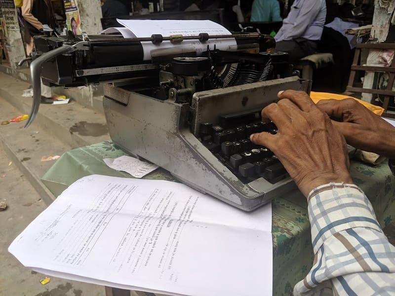 デヴァーナーガリー文字のタイプライター